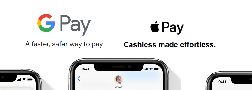 Google Pay and Apple Pay payments