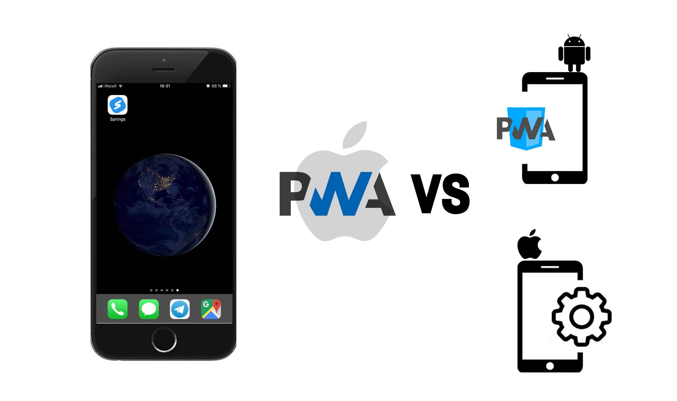 PWA iOS vs PWA Android and iOS native